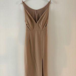Lulu's Mauve Dress with Slit